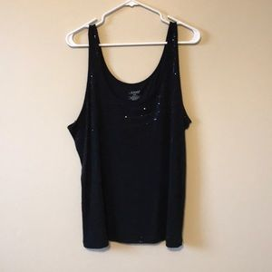 Lane Bryant Black tank top with sequins